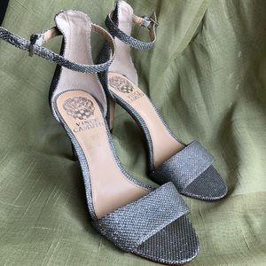 Vince Camuto silver heels